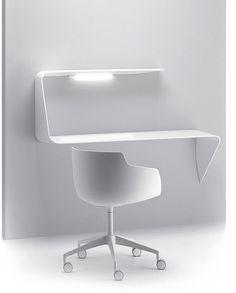 MAMBA - shelf and desk in white | desk . Schreibtisch . bureau | Design: Victor Vasilev |