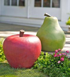Oversize Fruit Garden Art   Decorative Garden Accents   WOW! Aren't these cool? An unexpected garden accent sure to delight!