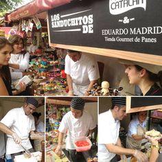Los sanduchitos de Eduardo Madrid en el evento de Vía Primavera, acompañado de Catalán, carnes de verdad