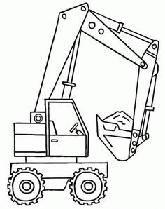 Free A backhoe with the shovel full of material coloring and printable page. Truck Coloring Pages, Coloring Book Pages, Coloring Sheets, Embroidery On Clothes, Construction Birthday, Embroidery Techniques, Coloring Pages For Kids, Baby Quilts, Quilt Patterns