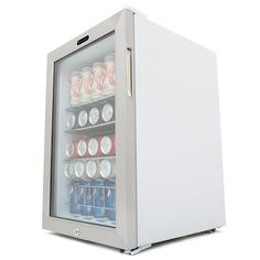 Whynter Beverage Refrigerator with Lock 90 Can Capacity Stainless Steel *** Check out this great product-affiliate link. Compact Refrigerator Freezer, Beverage Refrigerator, Bathroom Medicine Cabinet, Beverages, Stainless Steel, Canning, Link, Modern, Check