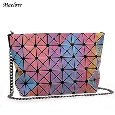 Maelove 2017 New Rainbow bag Geometric Patchwork Women bags Evening Clutches  Brand for Party Summer Bag