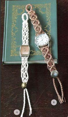 Плетённые браслеты вместо ремешка для часов
