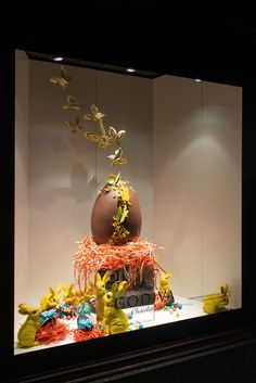 """HARRODS, London, England, """"Inspired by Chef Jean's giant Godiva Easter Egg"""", from Godiva Chocolates UK, pinned by Ton van der Veer"""