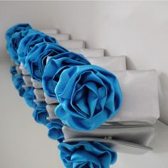 Emma made these in robin's egg blue and marine blue for our wedding...beautiful