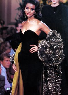 fashionpack: Khadija Adams @ Yves Saint Laurent Haute Couture F/W 1990