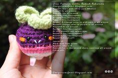 Amigurumi Food: Little Radish-Rabanito Amigurumi Free pattern