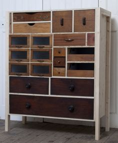 This one is particularly nice.  drawers by Rupert Blanchard, UK