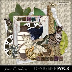 MyMemories digital scrapbooking kits - Wilds of Africa-(LinsCre) Digital Scrapbooking, Scrapbooking Ideas, My Memory, Africa, Invitations, Display, Christmas Ornaments, Store, Holiday Decor