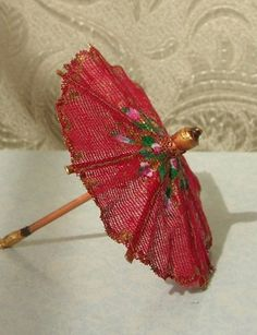 how to: parasol Felt Dolls, Paper Dolls, Dollhouse Landscaping, Red Hat Society, Felt Fairy, Mini Craft, Mini Things, Miniture Things, Doll Accessories