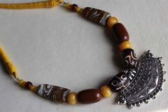 #Jewellery at https://www.facebook.com/rubyzcorner/ #beads #agate #germansilver #dori #necklace