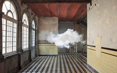 """❥ Dutch artist Berndnaut Smilde has developed a way to create clouds indoors by carefully regulating the space's humidity, temperature and light. This intersection of science and art was recently named one of TIME magazine's """"Best Inventions of the Year 2012."""""""