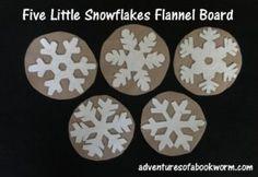 Storytime: Winter – Adventures of a Bookworm Felt Board Patterns, Little Snowflake, Felt Stories, Library Activities, Five Little, Wheels On The Bus, Preschool Crafts, Preschool Winter, Winter Art