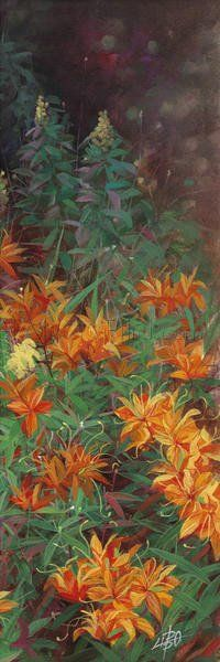 Wild Lily Garden II Giclee Print Poster by Li Bo Online On Sale at Wall Art Store – Posters-Print.com