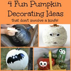 4 Fun Pumpkin Decorating Ideas that Don't Involve a Knife