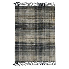 Uttermost Rugs Combine Premium Quality Materials With Unique High-style Design. Hand Woven Natural, Black And Gray Hemp With A Plaid Pattern And Braided Fringe Details. x 8 Ft. Farmhouse Fabric, Farmhouse Rugs, Modern Farmhouse, Mirror Shop, Grey Home Decor, Rug Texture, Rectangle Area, Transitional Rugs, Natural Rug