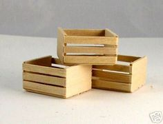 crates - make from popsicle sticks?