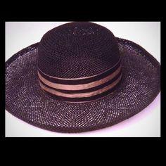 """Black 3.75"""""""" Wide Brim Hat (Size 6-7/8)"""