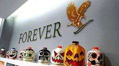 Happy Aloeween to you all. Forever Living Products, Aloe Vera, Carving, Halloween, Happy, Forever Aloe, Marketing Plan, Pumpkins, Bottles
