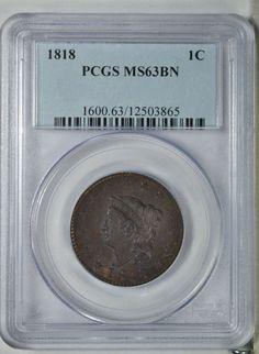 Collectors Corner - 1818 1C MS63BN PCGS