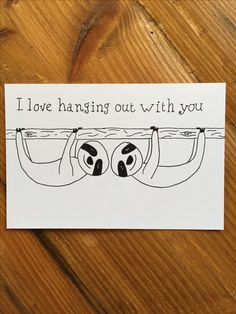 Friend card ''Love hanging out with you''