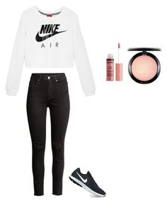 """nike"" by misell28 on Polyvore featuring NIKE, H&M, Charlotte Russe and MAC Cosmetics"