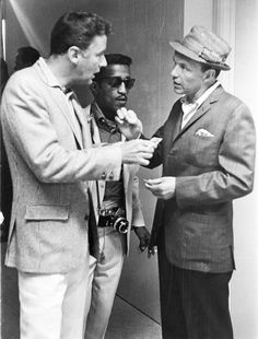 July 11, 1960–Peter Lawford, Sammy Davis, Jr., and Frank Sinatra before the opening of the Democratic National Convention