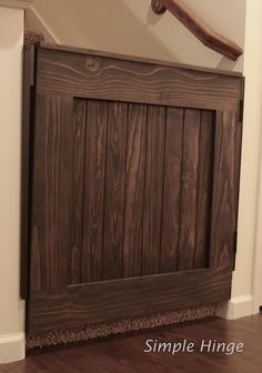 DIY Barn Door Baby Gate for Stairs STEP 10 House