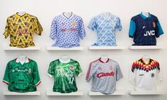 The Art of the Football Shirt features classic designs from Arsenal, Liverpool, Germany and many more.