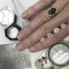 Had a lot of fun looking at diamonds today - cushion cut, round brilliant, asscher and pear shapes. Such fire and sparkle! Our Engagement and Wedding section of the website and business is almost ready to launch. If you have been searching for unique designs, interesting stones and different settings, email weddings@zoeandmorgan.com #bespoke #service #zoeandmorgan #engagement #weddings