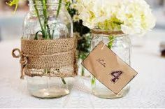 rustic wedding table centrepieces -