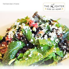 Field Greens Salad (170 calories) - With Roma tomatoes, Feta, bacon and Italian dressing