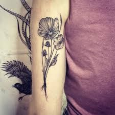 Image result for flower bunch tattoo