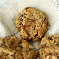 Chocolate Coffee Toffee Oatmeal Cookies