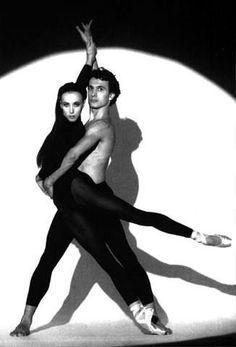 Former Opéra National de Paris étoiles Laurent Hilaire and Sylvie Guillem, circa 1988.