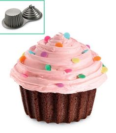 I have this pan ( thanks to my daughter) and it is so much fun to make. Kids love to help decorate the giant cupcake!