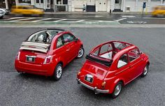 Meet the Fiat 500c - I could drive this but my youngest would be so mad.....