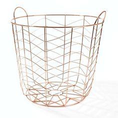 Copper Wire Storage Basket #worthynzhomeware wwworthy.co.nz