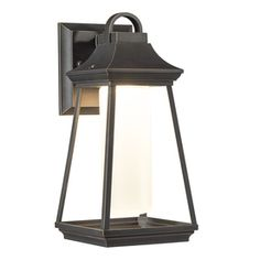 Kichler Lighting Hartford 11.77-in H LED Rubbed Bronze Outdoor Wall Light