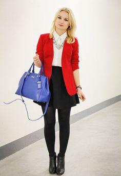 Trend Alert: Red Blazer for Fall Days