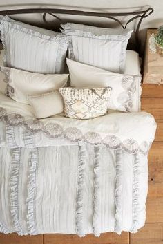 Anthropologie Tiered Ruffle Duvet #anthrofave