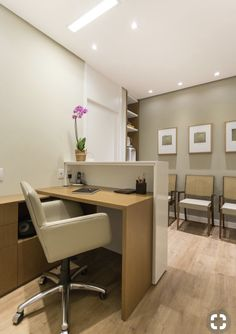 ceilling and wall colour khaki Office Reception Design, Small Office Design, Home Office Design, Clinic Interior Design, Clinic Design, Commercial Interior Design, Dental Office Decor, Medical Office Design, Medical Office Interior