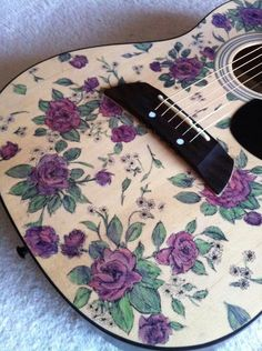 So I decided to draw on my first guitar... - Imgur