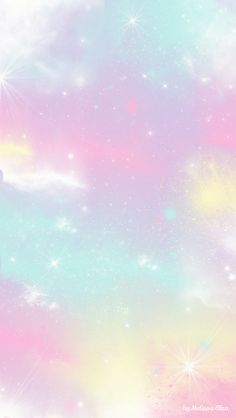Pastel Galaxy iPhone wallpaper