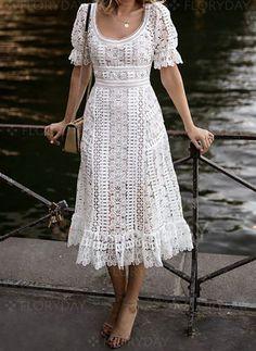 Lace and leather Mit freundlichen Grüßen Midi-Blumenkleid What Women should Wear for Office The new Floral Midi Dress, Lace Dress, Dress Up, White Dress, Midi Dresses, Midi Skirt, Flower Dresses, Prom Dress, Wedding Dress