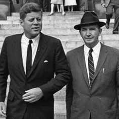 JFK and the man who was with him from the beginning of his political endeavors until the day he died, Dave Powers.
