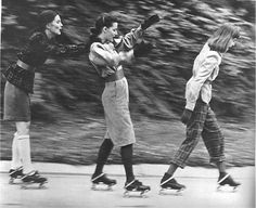 The first patented roller skate was introduced in 1760 by Belgian inventor John Joseph Merlin. His roller skate wasn't much more than an ice. Roller Derby, Roller Skating, Skating Rink, Figure Skating, Skates, Vintage Photographs, Vintage Photos, Ask The Dust, Boogie Wonderland