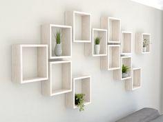 Limed Oak Square Wall Shelf in Solid Oak Limed Oak Cube image 1 - Cube Shelves - Ideas of Cube Shelves Cube Wall Shelf, Small Wall Shelf, Wall Cubes, Wall Shelf Decor, Cube Shelves, White Shelves, Wall Mounted Shelves, Floating Shelves, Rustic White