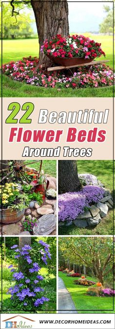 22 beautiful flower beds around trees, beds . Landscaping Around Pool, Landscaping Costs, Landscaping With Rocks, Front Yard Landscaping, Landscaping Ideas, Landscaping Blocks, Garden Trees, Trees To Plant, Garden Bed