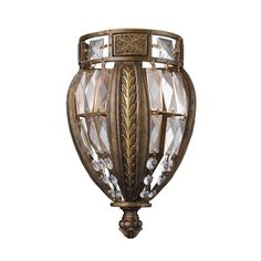 Elk Lighting 2490/1 Single Light Wall Sconce from the Millwood Collection Antique Bronze Indoor Lighting Wall Sconces Wall Washers